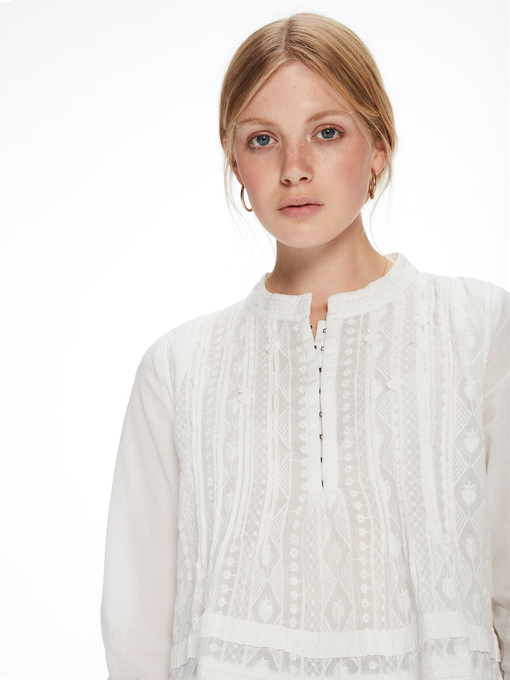 SCOTCH AND SODA - Embroidered Tunic Top online at PAYA boutique