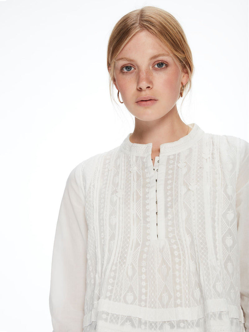 Buy Embroidered Tunic Top from SCOTCH AND SODA at paya boutique