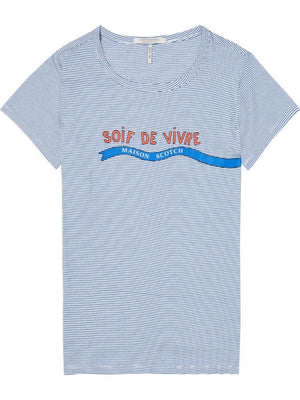 SCOTCH AND SODA - French Artwork Tee online at PAYA boutique