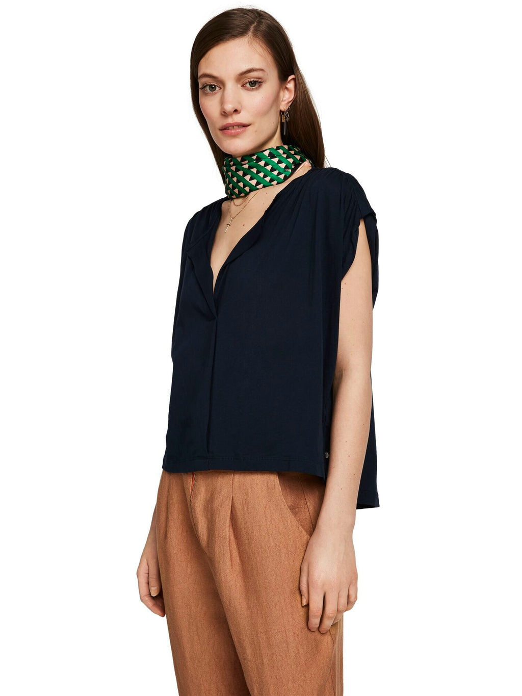 SCOTCH AND SODA - Gathered Jersey Top online at PAYA boutique