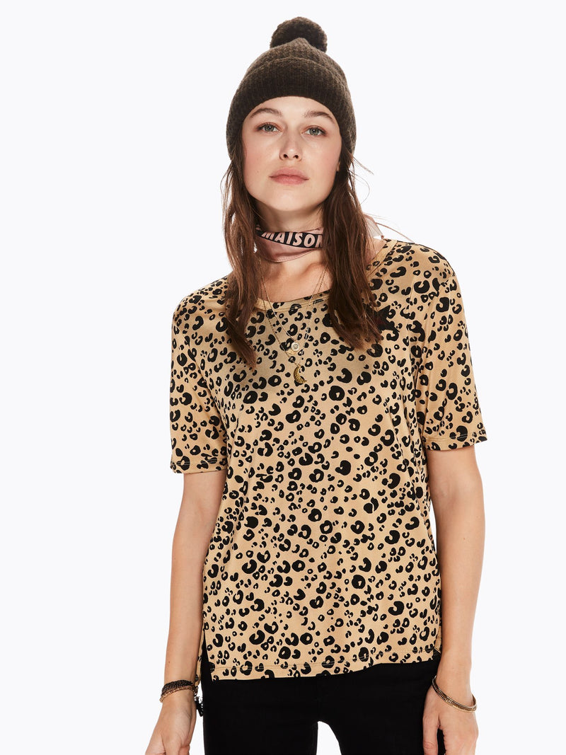 Buy Leopard Print Mercerized Tee from SCOTCH AND SODA at paya boutique