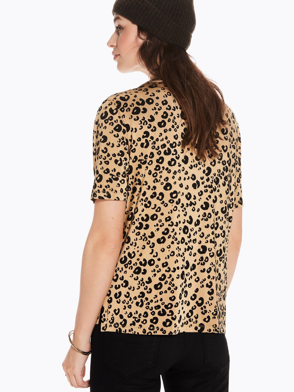 SCOTCH AND SODA - Leopard Print Mercerized Tee online at PAYA boutique
