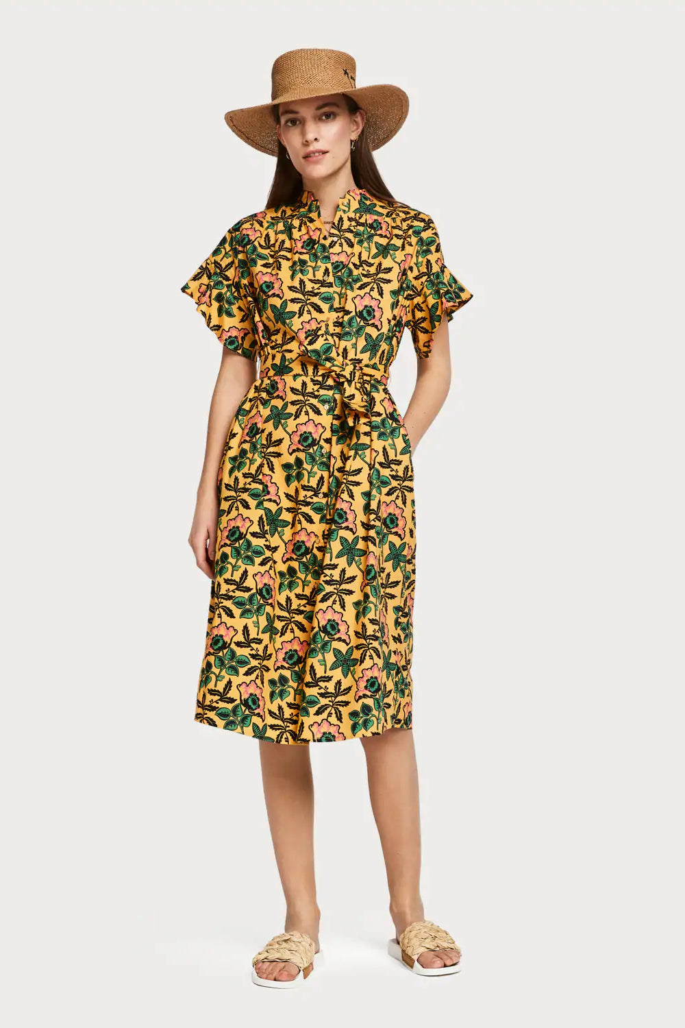 SCOTCH AND SODA - Midi Cotton Dress online at PAYA boutique