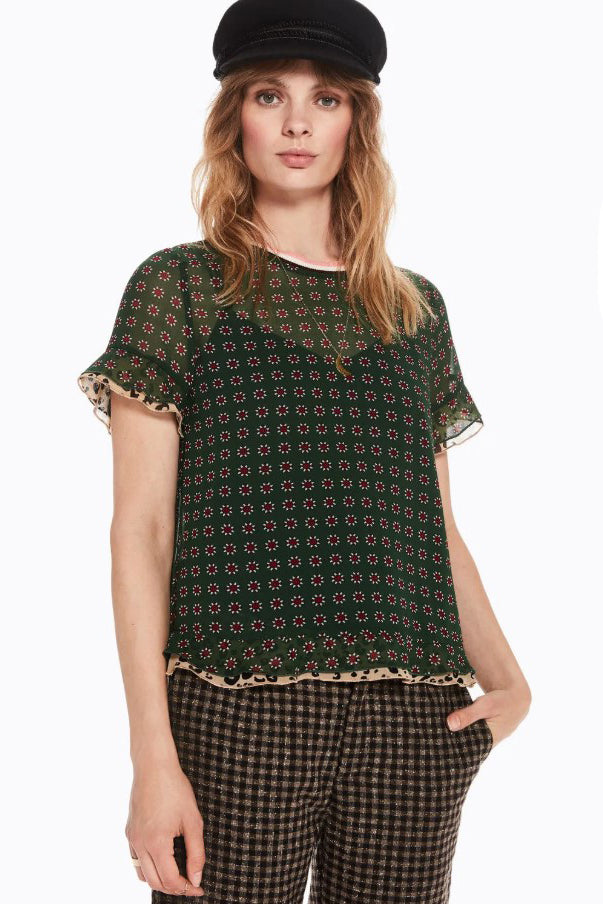 SCOTCH AND SODA - Mixed Print Tee online at PAYA boutique