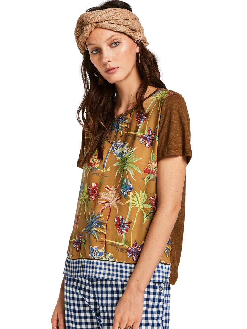 Buy Mixed Printed Top from SCOTCH AND SODA at PAYA boutique