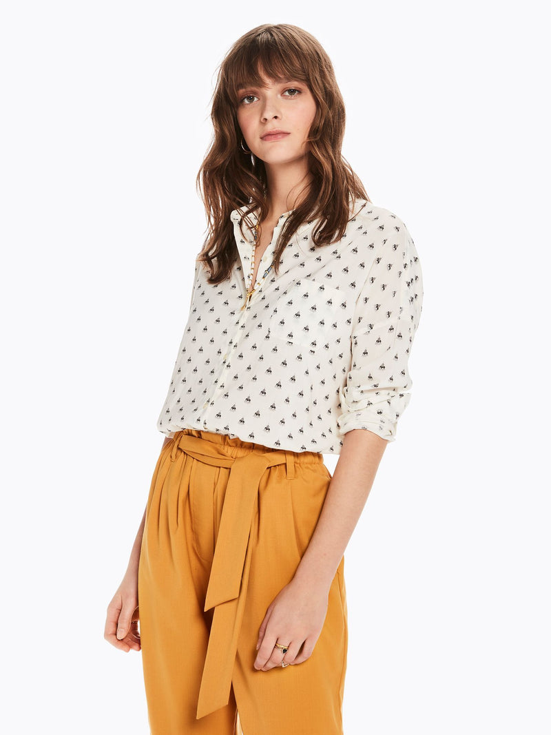 Buy Printed Cotton Blend Shirt from SCOTCH AND SODA at paya boutique