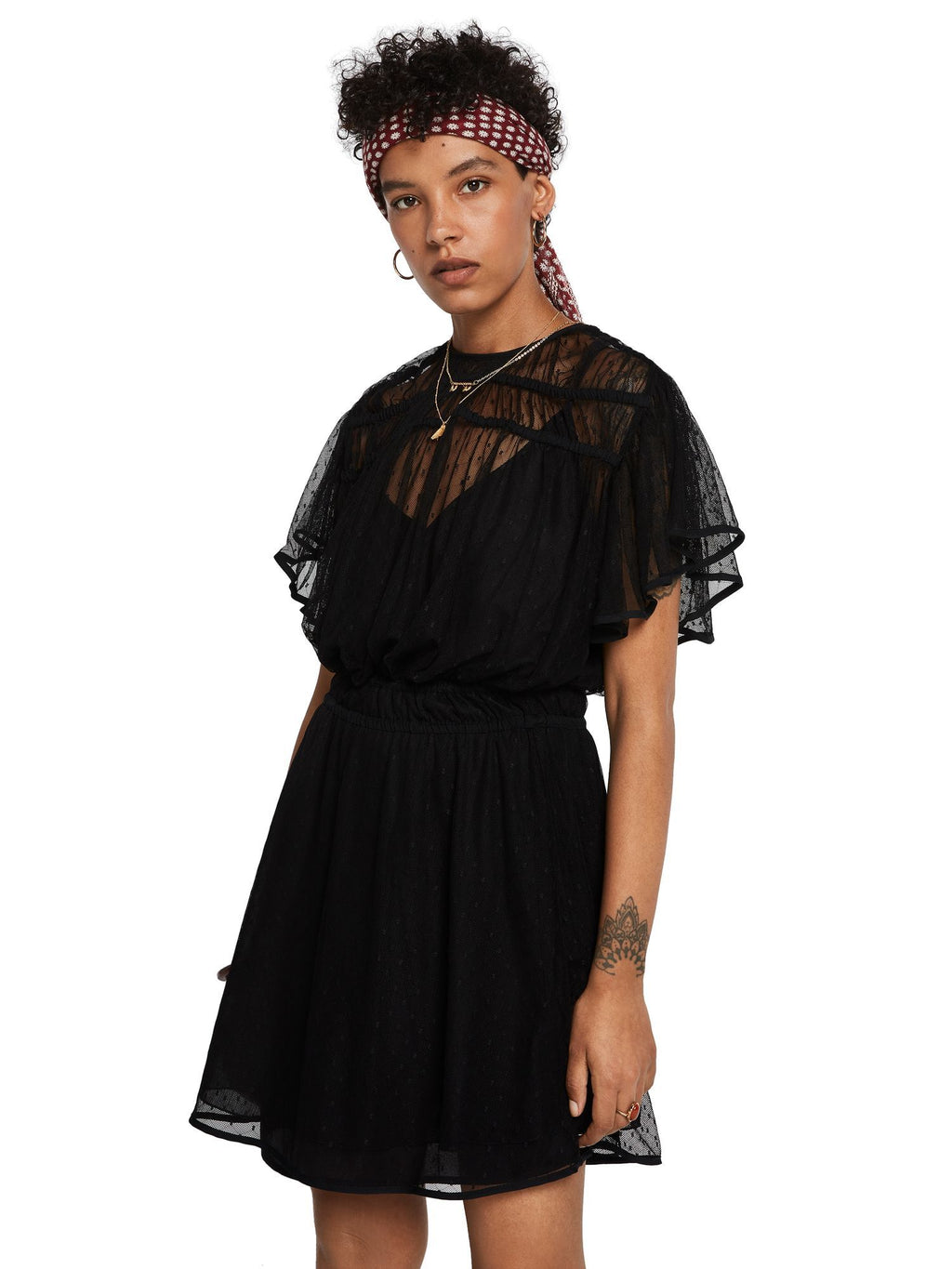 Buy Mesh Polka Dot Party Dress from SCOTCH AND SODA at PAYA boutique
