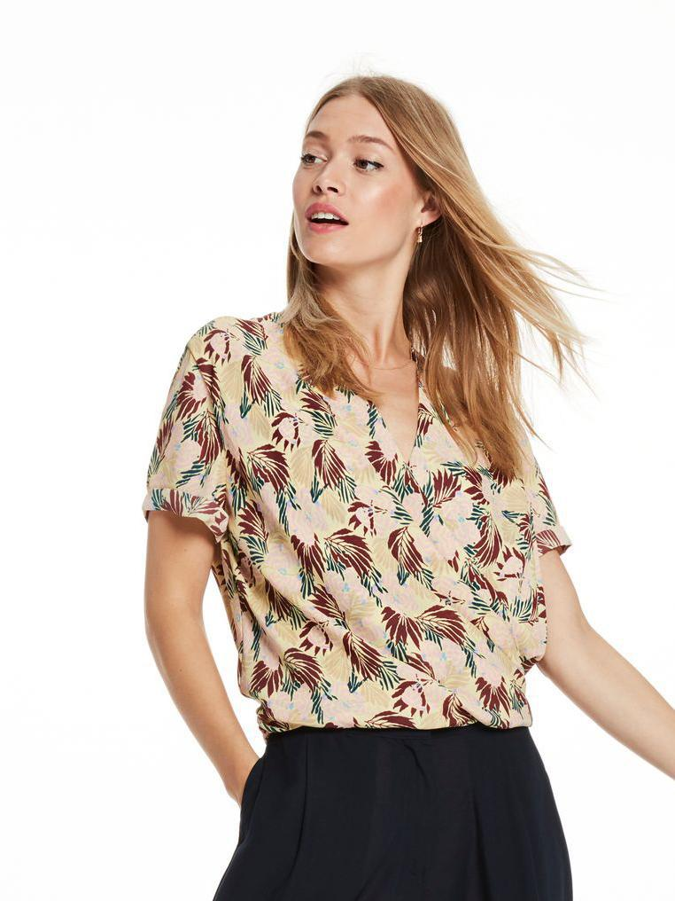 Buy Printed Wrap Blouse from SCOTCH AND SODA at PAYA boutique