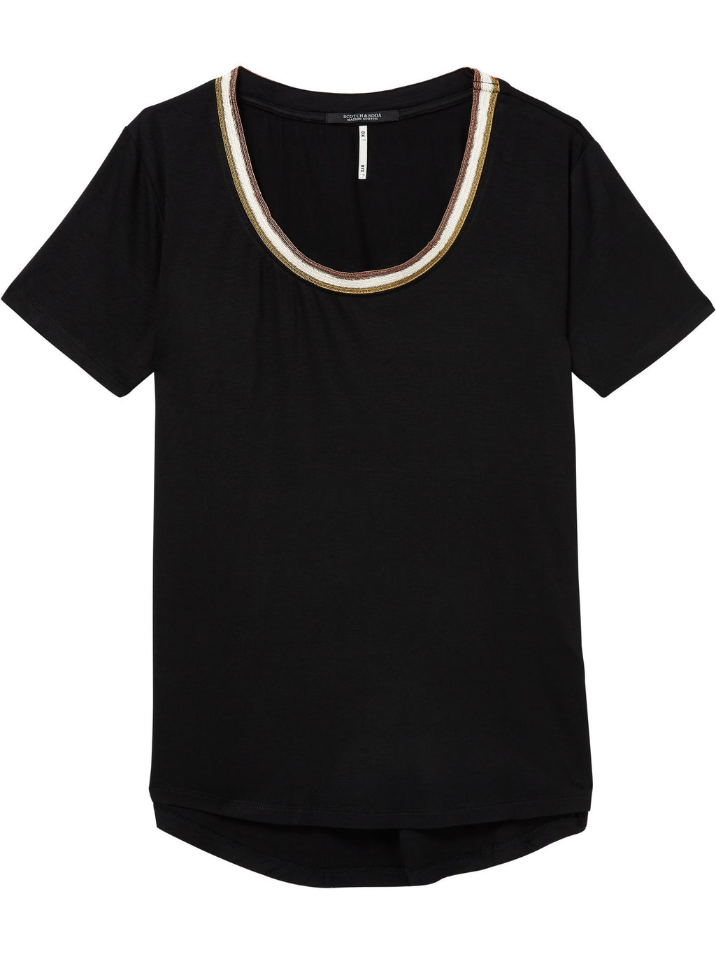 SCOTCH AND SODA - Striped Neckline Tee online at PAYA boutique