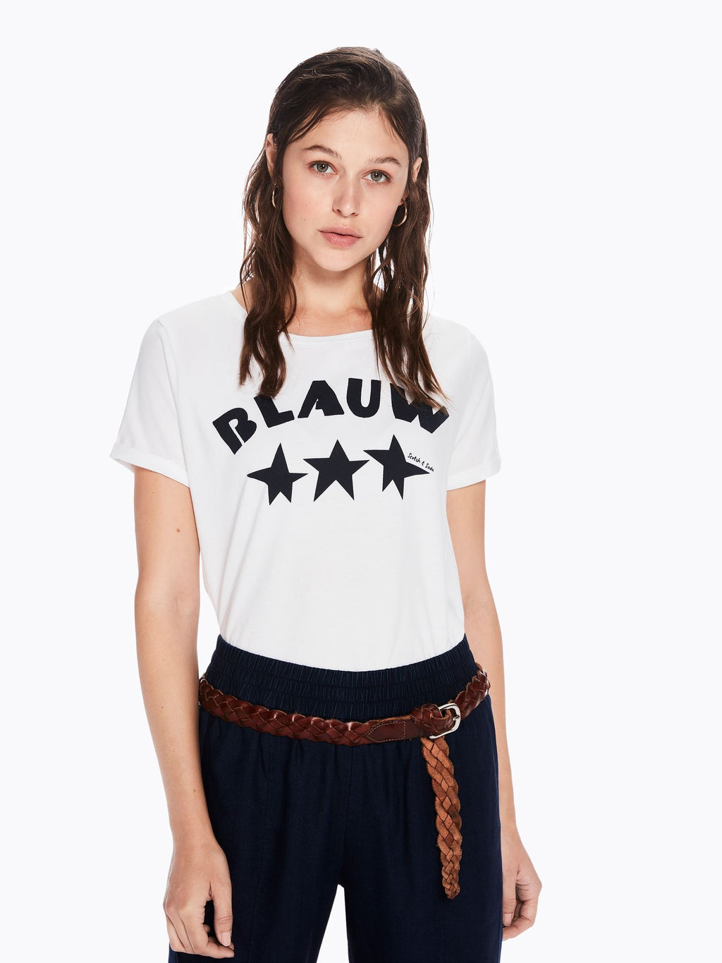 SCOTCH AND SODA - Graphic Logo Tee online at PAYA boutique