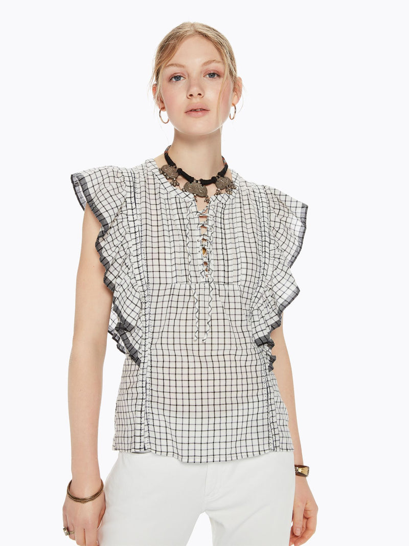 Buy Sleeveless Ruffle Top from SCOTCH AND SODA at paya boutique