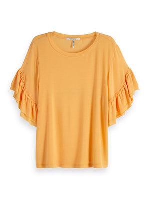 SCOTCH AND SODA - Ruffled Sleeve Tee online at PAYA boutique