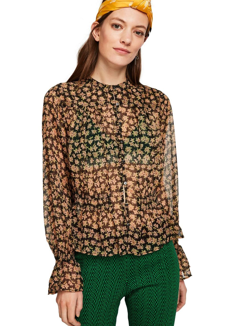 Buy Sheer Peplum Blouse from SCOTCH AND SODA at PAYA boutique