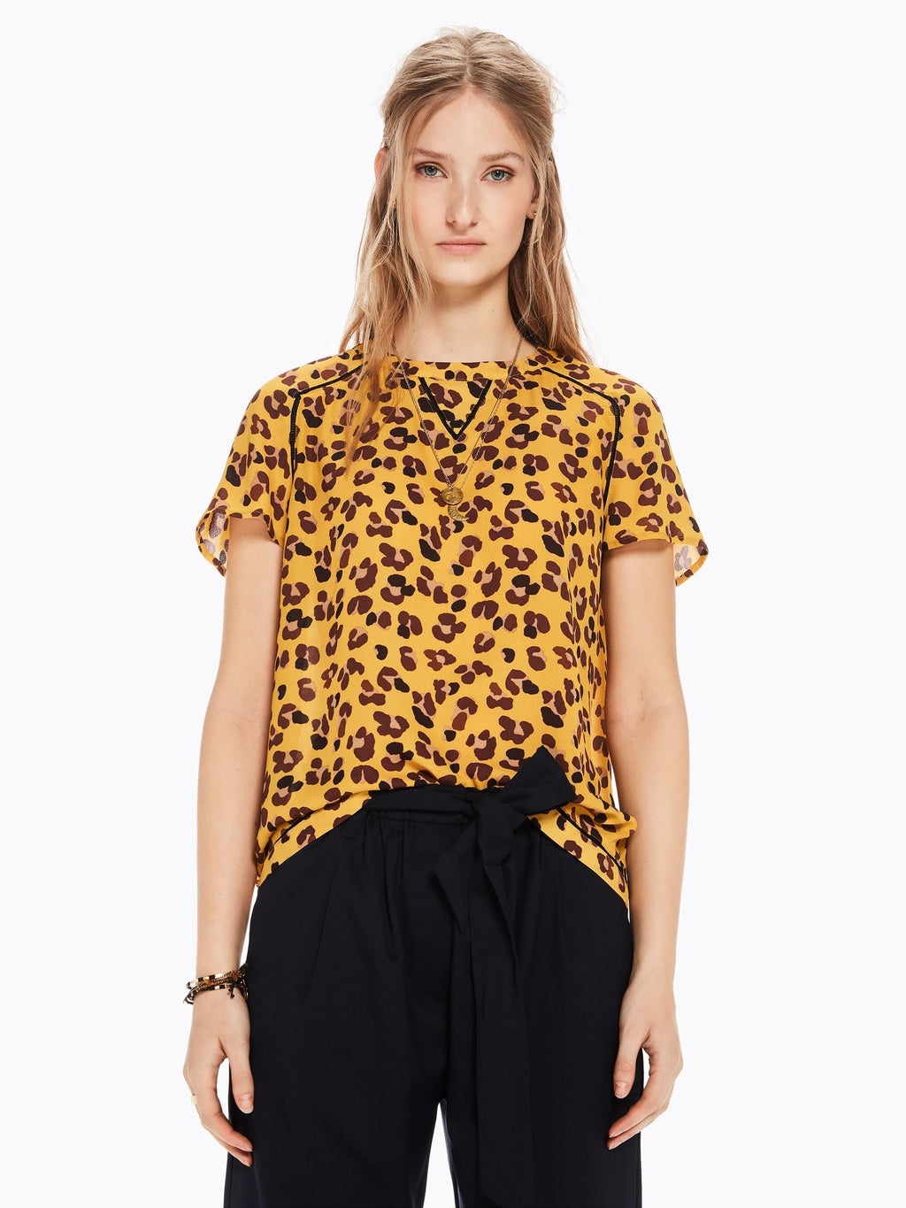 Buy Printed Ladder Detail Top from SCOTCH AND SODA at PAYA boutique