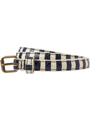 SCOTCH AND SODA - Striped Leather Belt online at PAYA boutique