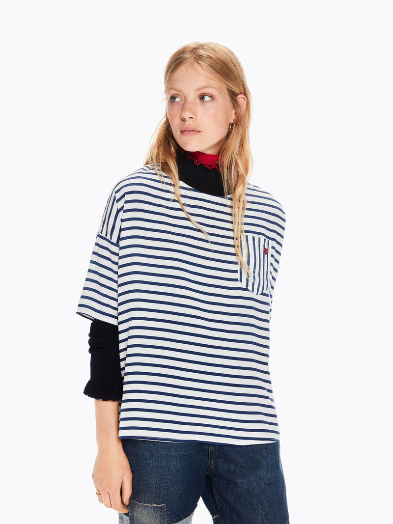 Buy Mixed Stripe Top from SCOTCH AND SODA at paya boutique