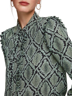 SCOTCH AND SODA - Printed Ruffle Shirt online at PAYA boutique