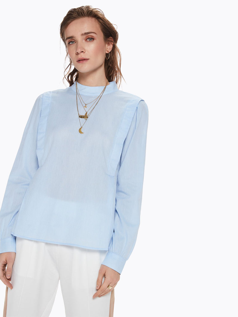 SCOTCH AND SODA - Woven High Neck Top online at PAYA boutique