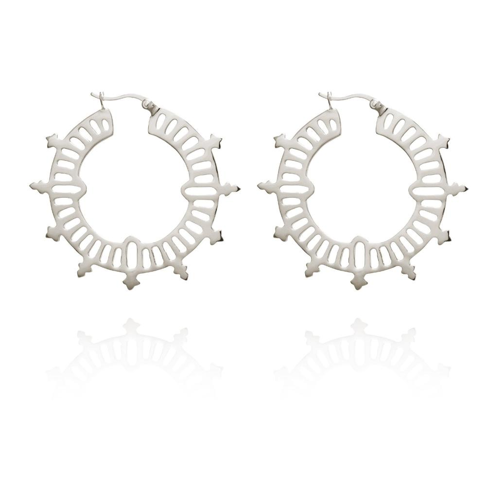 Buy Krista Hoop Earrings from TEMPLE OF THE SUN at paya boutique