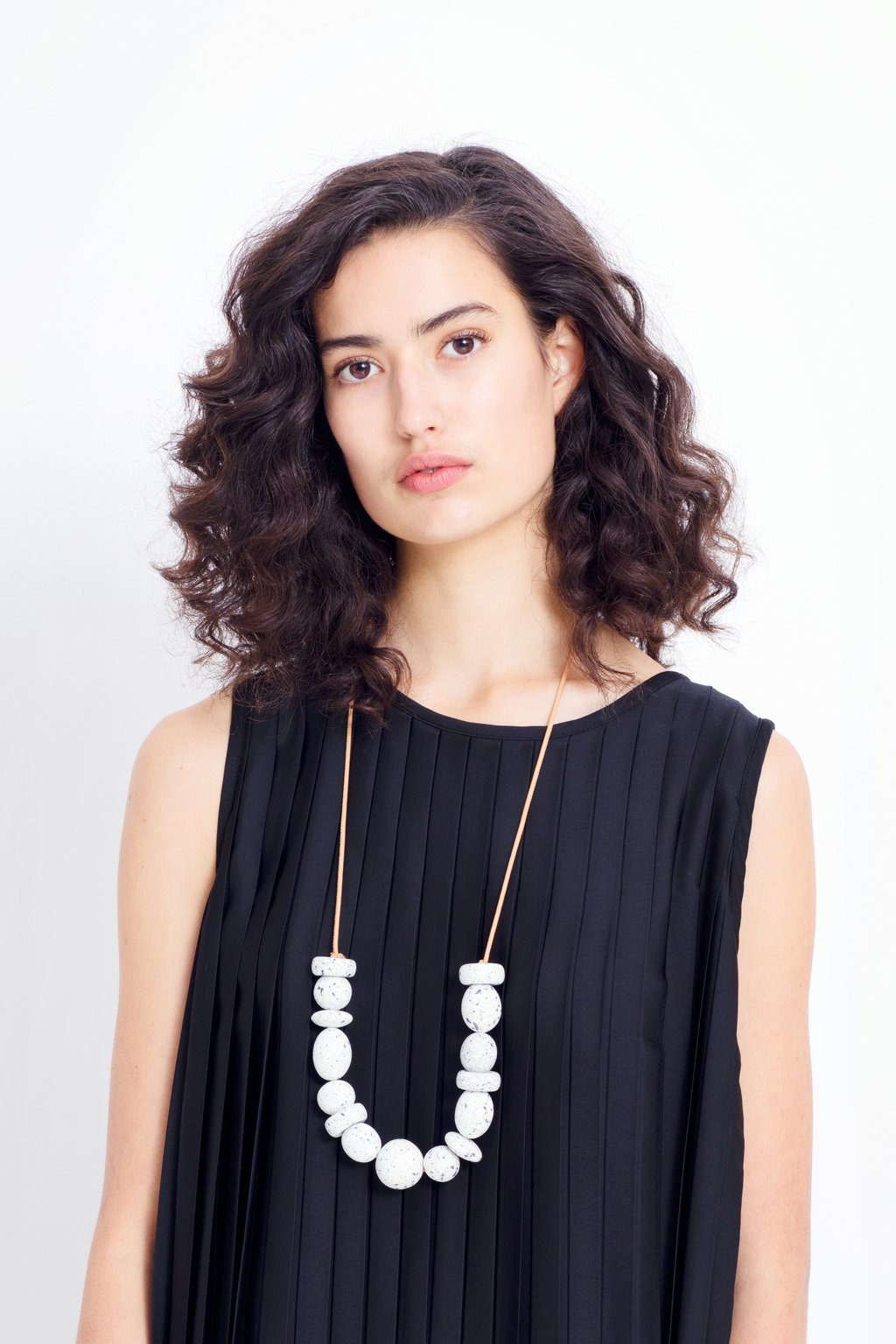 ELK The Label - Long Terrazzo Necklace - Black online at PAYA boutique