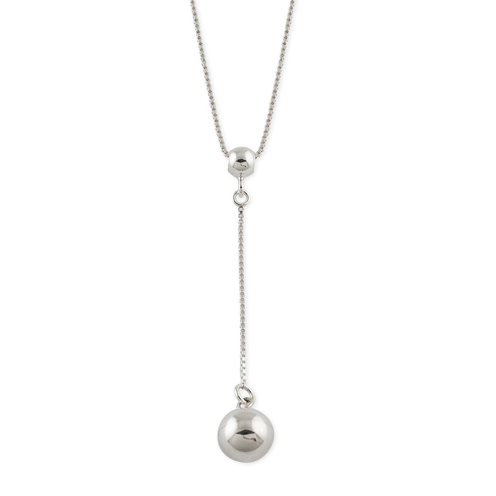 VON TRESKOW - Box Chain Drop Ball Necklace online at PAYA boutique