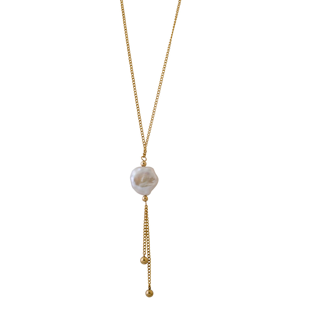 VON TRESKOW - Keshi Pearl drop Necklace online at PAYA boutique