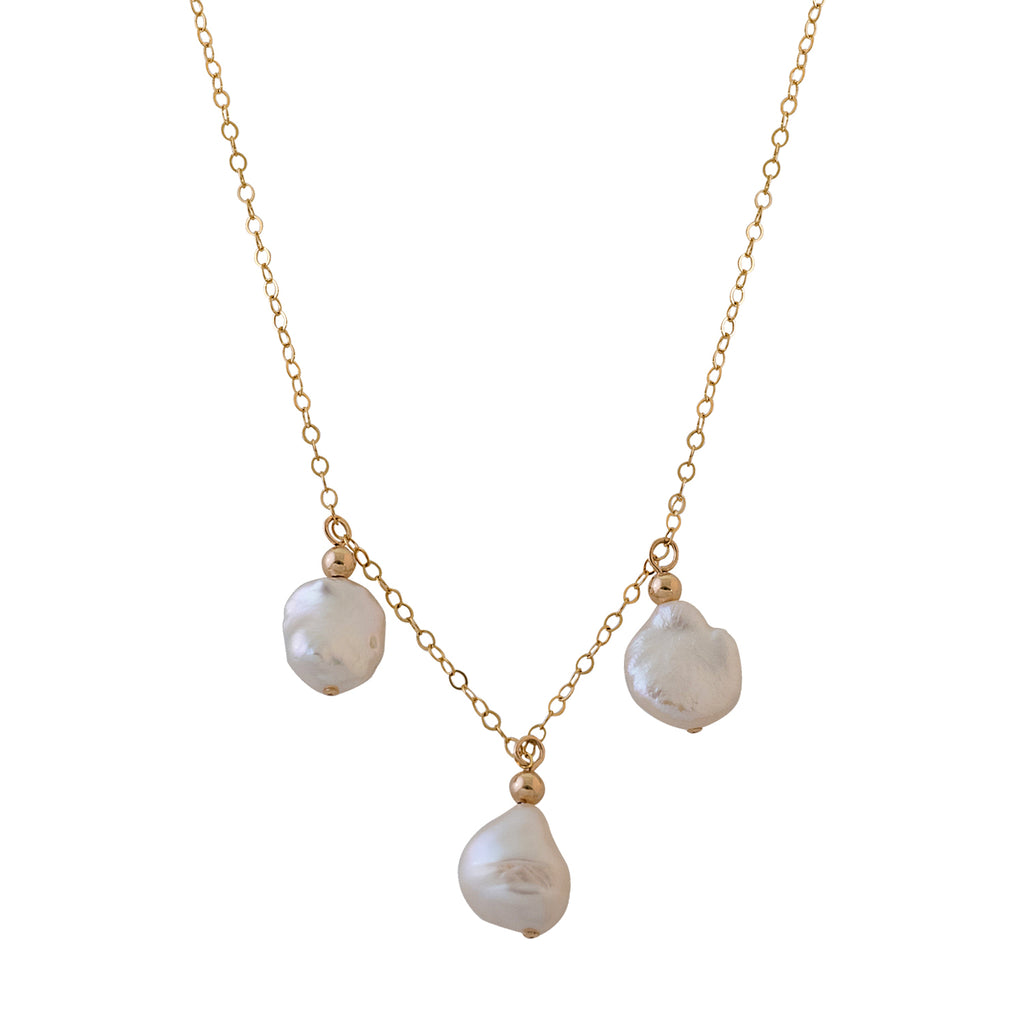 VON TRESKOW - Keshi Pearl Trio Necklace online at PAYA boutique