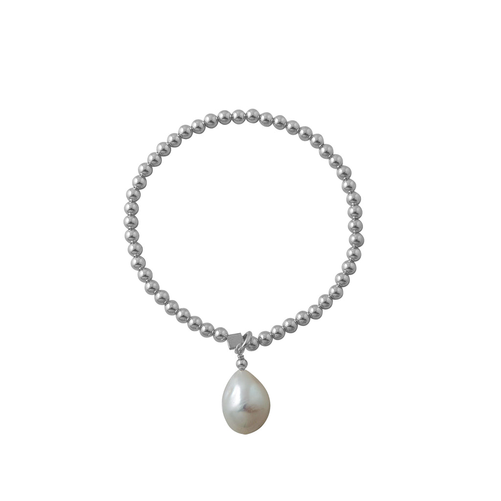 VON TRESKOW - Baroque Pearl Stretchy Bracelet online at PAYA boutique