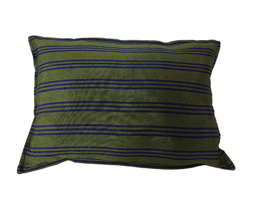 The Kutnu Throw Pillows Green Navy Small 35x50 cm*