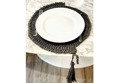 Tablemats with tassel-Zaen Homes Store