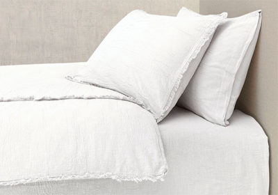 The Buldan Bed Linen Set Optik White