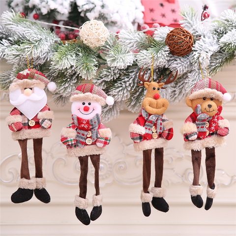 Cute Christmas scene decoration articles pendant doll