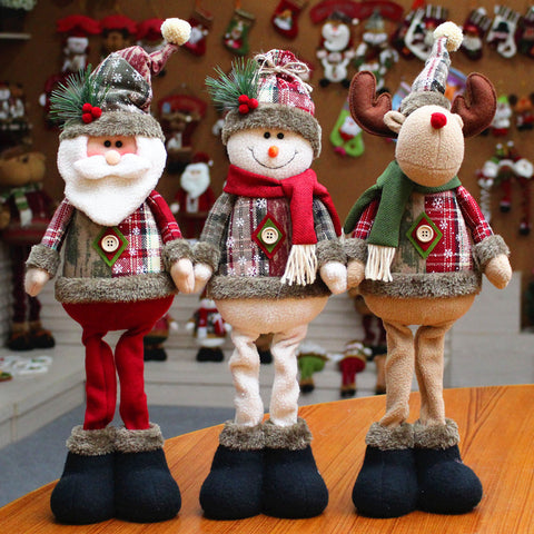 Christmas decoration snowman elk doll