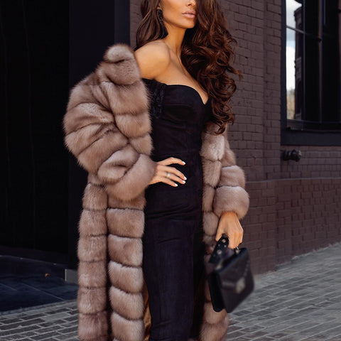 Fashion lady warm plush coat