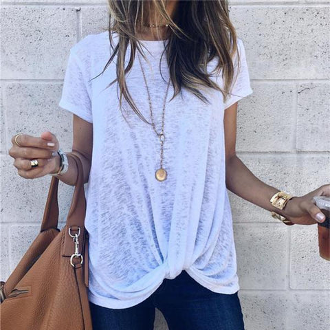Fashion Short Sleeve Irregular T Shirt