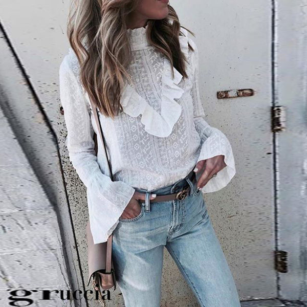 Fashion High Collar Stitching Solid Color Top