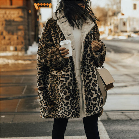 Fashion Long Sleeve Leopard Printed Jacket