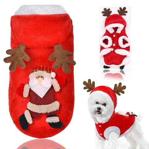 Christmas puppy cat elk pet clothes