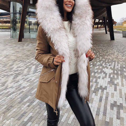 Fashion Fur Collar Cotton Coat
