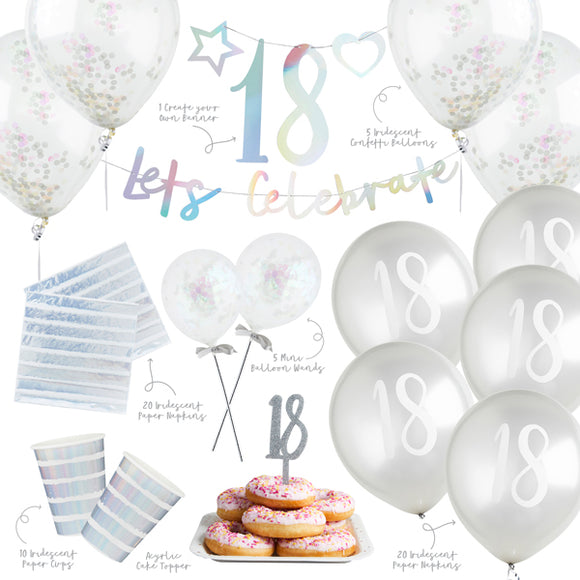 Iridescent 18th Birthday Party Bundle