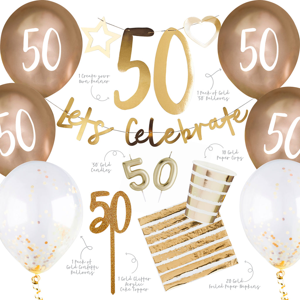 Gold 50th Party Bundle