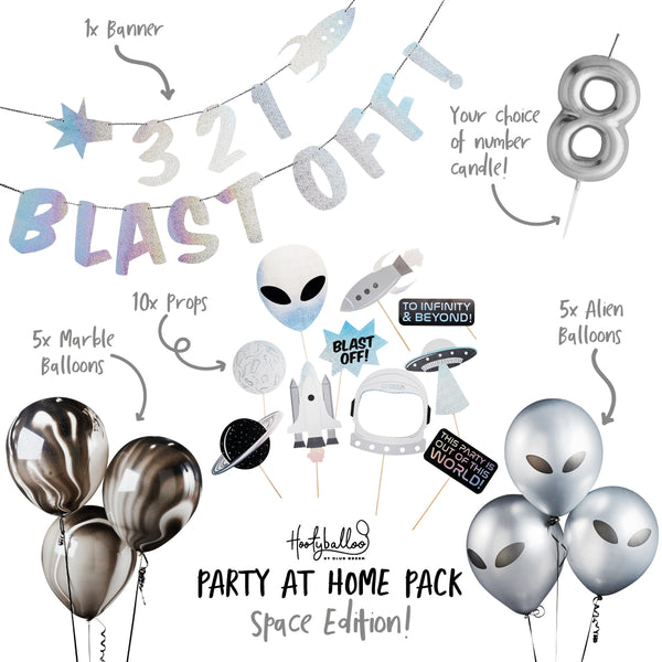 Blast Off Space Party At Home Pack