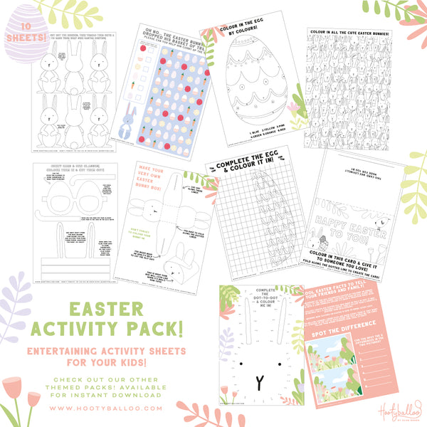 Free Easter Activity Sheets Pack Digital Download