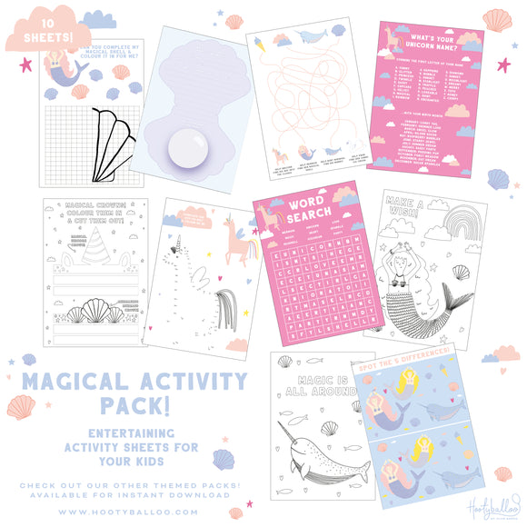 Free Enchanted Activity Sheets Pack Digital Download