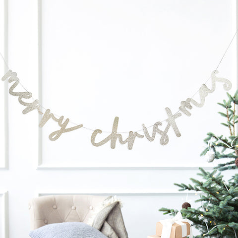 'Merry Christmas' Card Banner