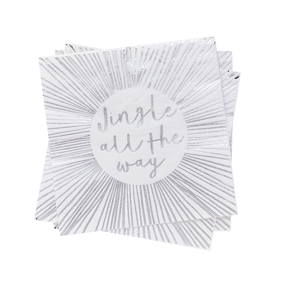 20 'Jingle All The Way' Napkins
