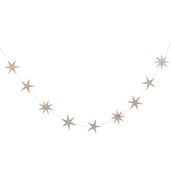 Gold Star Wood Garland