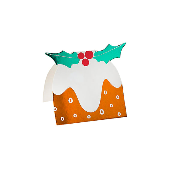 10 Christmas Pudding Place Cards