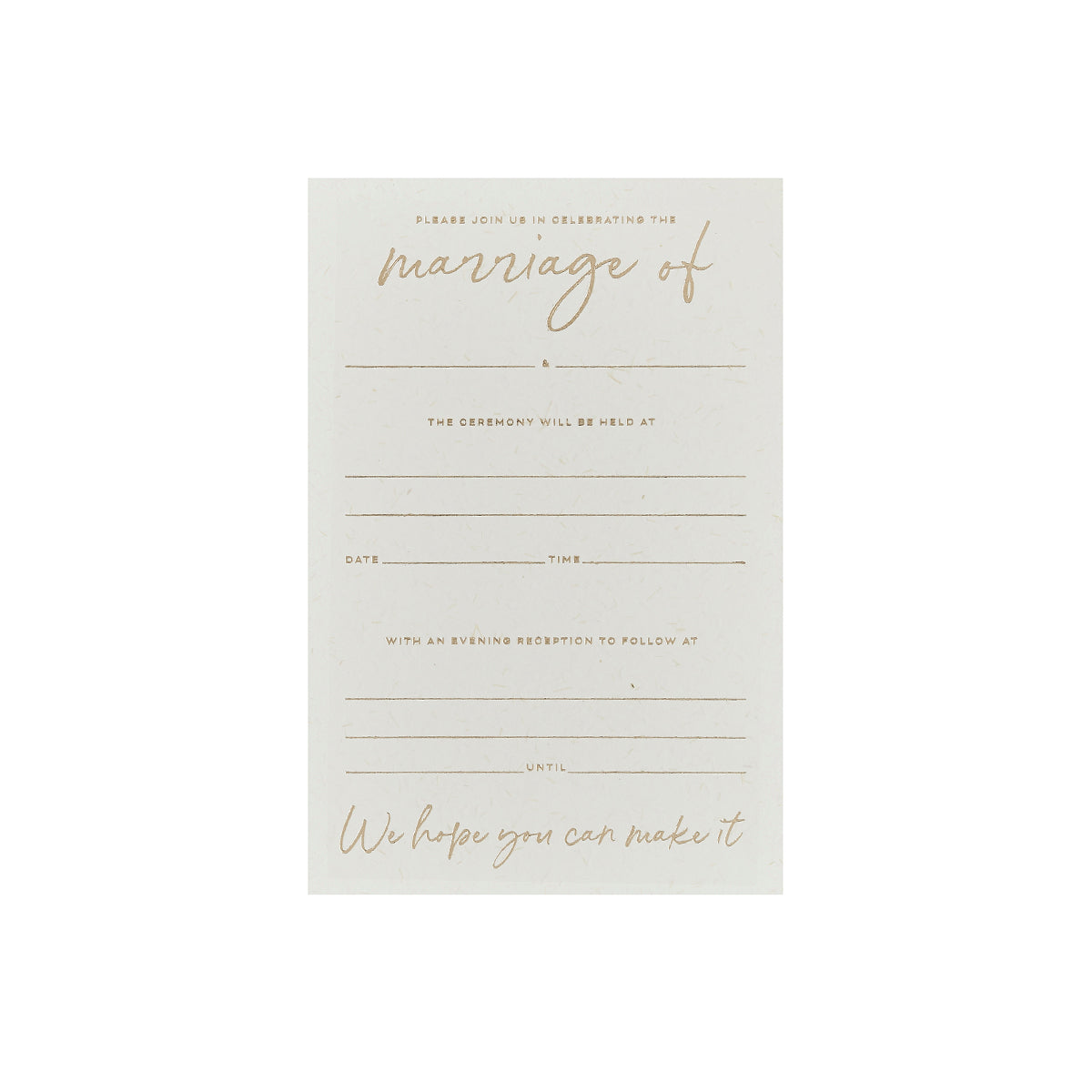 20 Gold Wedding Day Invitations