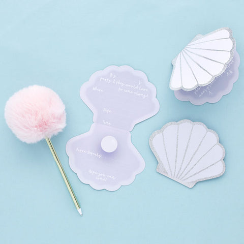 10 Shell Party Invitations